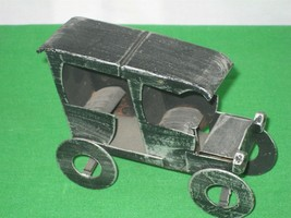 Vintage Black 1926 Metal Toy Passenger Car Bank by Banthrico Inc. Chicag... - $12.16