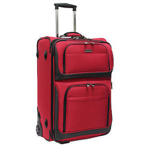 """Travelers Choice Conventional II Red 26"""" Rugged Rollaboard Rolling Lugga... - $86.12"""