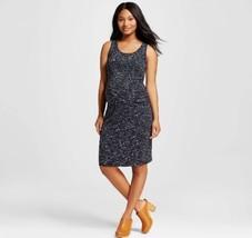 Liz Lange Maternity Black Ebony Space Dye Tank Sleeveless Dress NWT - $16.88