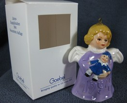 Goebel Annual Angel Bell Ornament 1994 Clown Purple Boxed Germany - $79.97