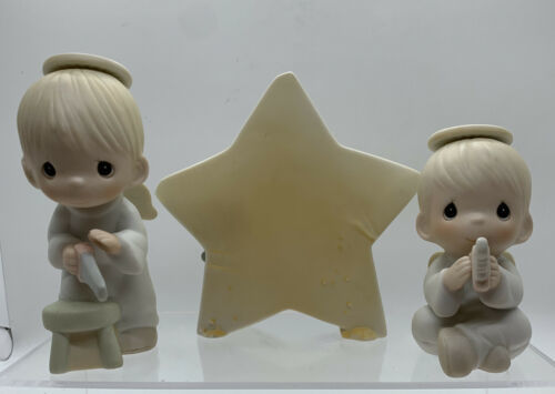 "Primary image for PRECIOUS MOMENTS 1987 RETIRED ""WE SAW A STAR"" 3 PC. SET MUSICAL IN BOX"