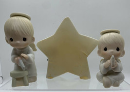 "PRECIOUS MOMENTS 1987 RETIRED ""WE SAW A STAR"" 3 PC. SET MUSICAL IN BOX - $16.78"