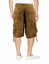 Men's Relaxed Fit Multi Pocket Cotton Casual Military Cargo Shorts image 3