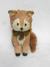 Pier 1 Imports Bristle Straw Fall or Autumn Holiday Home Décor Red Fox #2 - $9.99