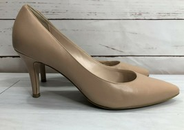 Cole Haan Women's High Heel Shoes 10C Taupe Flesh Tone Pointed Toe Leath... - $40.43
