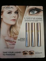 Loreal Paris Voluminous Lash Paradise 3 Pack Mascara Blackest Black - $55.19