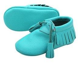 Unique Baby Quality Leather Baby Moccasin with Hanging Tassel (18-24 mon... - $8.99