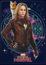 Captain Marvel Movie Carol with Goose the Cat Refrigerator Magnet NEW UNUSED - $3.99