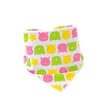Lovely Bear,3Pcs Pure Cotton Adjustable Baby Neckerchief/Saliva Towel