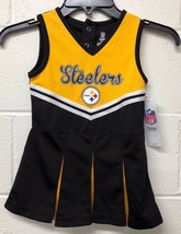 NWT NFL Toddler Pittsburgh Steelers Football fan Yellow Black Dress 3T-3 - $18.56