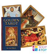 Golden tarot deck esoteric cards telling kat black us games systems new - $53.69