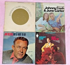Lot of 4 VINTAGE Vinyl LP Record Albums ~ Johnny Cash, Jim Reeves, Ray P... - $3.96