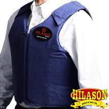 X Lrg Equestrian Horse Riding Vest Safety Protective Hilason Dark Denim U-0-XL - $139.95