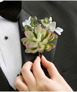 moss boutonniere wedding boutonnieres groom flower - $5.00