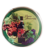 Edenborough Hand Made Glass Suncatcher Wine ANNIVERSARY - $7.99
