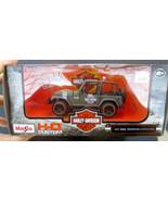 New in Box: Maisto H-D Custom Jeep Wrangler 1/27 Scale Army Green - $22.81