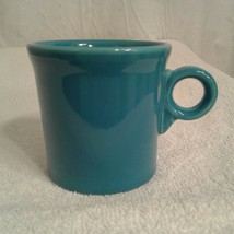 Fiesta Ware Coffee Mug O-ring handle - Peacock Blue cup - $12.00