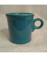 Fiesta Ware Coffee Mug O-ring handle - Peacock Blue cup - $12.00