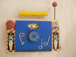 Vintage 1964 Fisher Price Toys Inc TV-Radio Jack and Jill works  - $14.99
