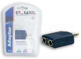 Audio Jack Cinch Stereo Y-Adapter 2 X 6,35mm Socket an 3,5mm Plug 625 - $3.58