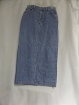 Womens Gap Denim Long Skirt Sz 4 - $16.70