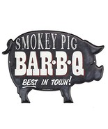 Open Road Brands Smokey Pig Embossed Metal Sign - $17.87