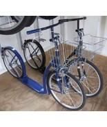 "16"" AMISH KICK SCOOTER ~ BLACK Foot Bike w/ Basket & Brakes MADE in USA - $299.87"
