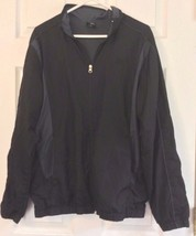 Starter Athletic Jacket Full Zip Black Green Insets Side Pockets Size Small - $12.82