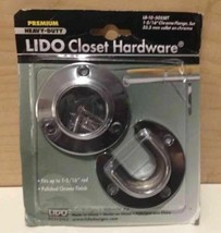 "LIDO Premium Heavy Duty Closet Hardware 1 5/16"" Chrome Flange Set - €13,73 EUR"