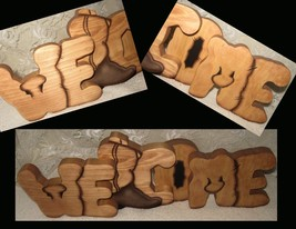Wood Welcome Sign, Brown Welcome Sign, Country Home Decor - $41.99