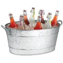 Benzara Galvanized Beverage Tub With Handles, Gray - $62.07