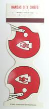 Kansas City Chiefs 1980 Football Schedule Sports Matchbook Cover Helmet ... - $1.75