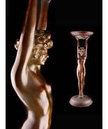 "Erotic art deco statue / Large 26"" bronze ashtray / Vintage 1920s Nude /... - $1,450.00"