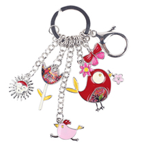 (RED)Bonsny 2016 Enamel Alloy Fish Chicken Marvel Alloy Key Chain For Wo... - $20.00