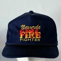 Vintage Nevada Fire Fighter Corded Snapback Hat Baseball Trucker PROP GIFT - $25.00