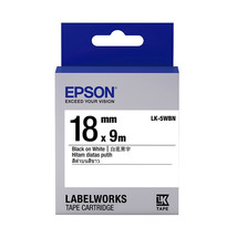 18mm Black on White - Epson LABELWORKS LK-5WBN Tape Cartridges (Pack of 4) - $82.99