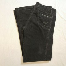 Kuhl Womens Corduroy Gray Zip Pockets Outdoor Hiking Stretch Pants Size 6 - $29.99