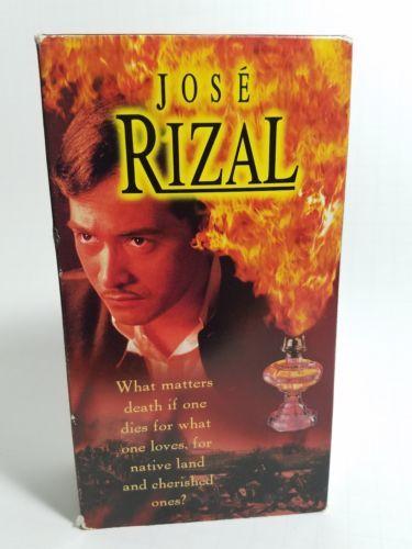 Rare Jose Rizal Movie Film on VHS  GMA Films a Marilou Diaz-Abaya film.