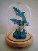 90068 Marine Life Two Dolphins Figurine Statue in Dome by Backwoods Ligh... - $32.00
