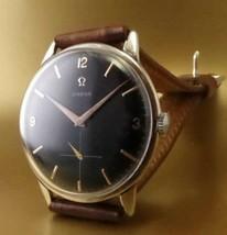 1950's Antique Omega Men's Analog Black Watch Cal.267 Manual Overhauled winding - $909.09