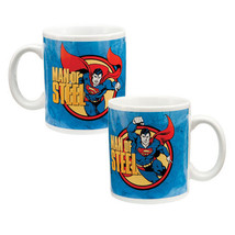Superman Man of Steel Comic Art Figure 12 oz. Ceramic Coffee Mug, NEW UN... - $7.84