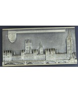 Vtg Marcus Designs House of Parliaments Gold Tone Plaque Hand Made in En... - $29.42