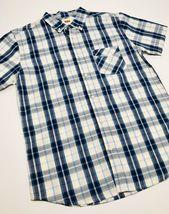 Men's Levi's White | Navy Plaid S/S Button Down Shirt - $69.00