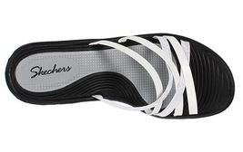 Skechers Rumblers Wedge Slide On Sandals Size 10 NEW White - $21.00