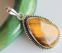 Tiger's Eye Silver Overlay Handmade Pendant Jewelry-oj-418-1_214 - $4.49