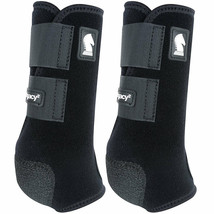 Classic Equine Lightweight Legacy2 Front Sports Boots Pair Black U-02BK - $86.99