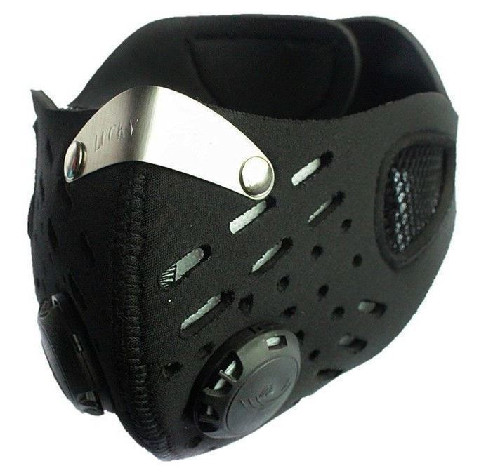 Wolf Bike anti-pollution bike neoprene mask vented charcoal allergy forest fire