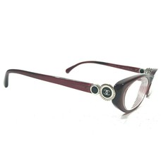 Chanel 3201 c.539 Collection Bouton Sunglasses Eyeglasses Frames Red Black Oval - $233.74