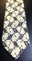 ZYLOS GEORGE MACHADO Men's Yellow Gray Red 100% Italian Silk Neck Tie Ne... - $9.80