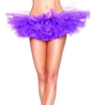 NEW LEG AVENUE WOMEN'S SEXY TUTU BALLET DANCE SKIRT A1705 ONE SIZE PURPLE